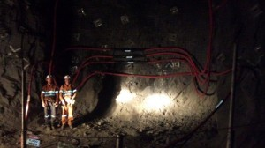 Underground HV installation
